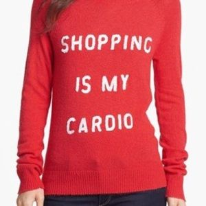 "WIlDFOX Sweater ""Shopping is my cardio"""